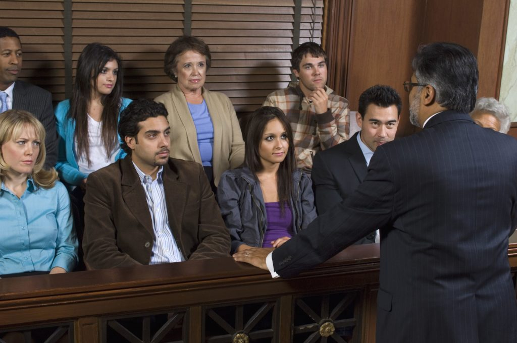 Grand jury making a decision